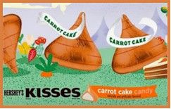 Carrot Cake Hershey's Kisses