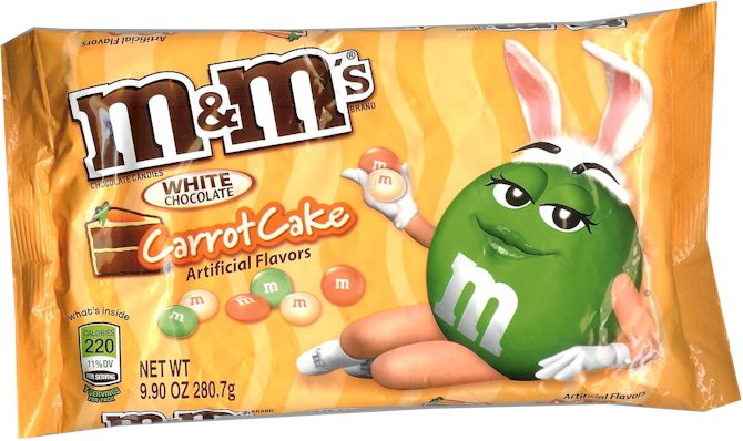 Bag of White Chocolate Carrot Cake M&M's
